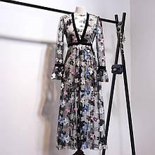 Платье  сеточкой на подкладке