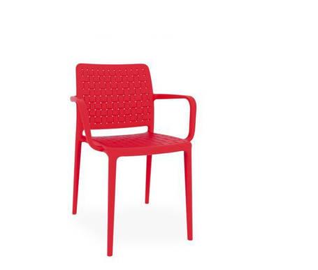 Стул Fame-K пластик Красный (Papatya-TM), фото 2