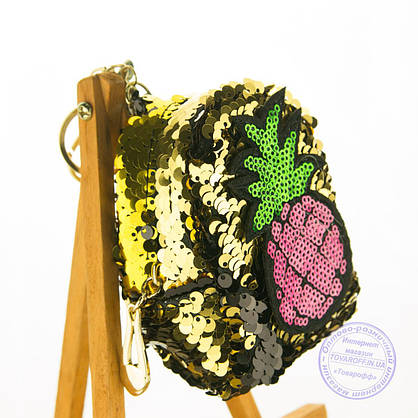 Брелок - кошелечек из пайеток - LH-22, фото 3