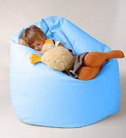 Детское кресло мешок голубое  100*75 см из микро-рогожки