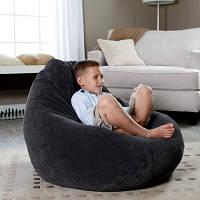 Велюровое детское кресло мешок груша 100*75 см