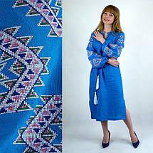 Вышитое платье в стиле бохо Мечта бирюза, фото 3