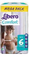 Подгузники Libero Comfort 6 (13-20кг) 72шт.