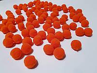 Помпоны 20 мм россыпью - цвет оранж