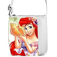 Детская сумка для девочки с принтом  Ариэль и Ракушка