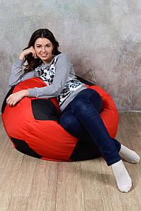Кресло мяч Красно-Черный  L (110) oxford 600