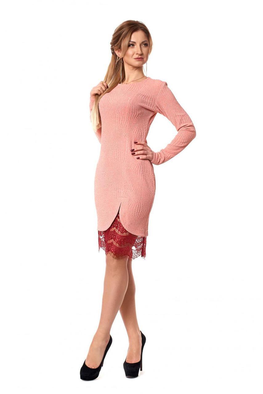 Красивое фактурное платье - Оптово - розничный магазин одежды