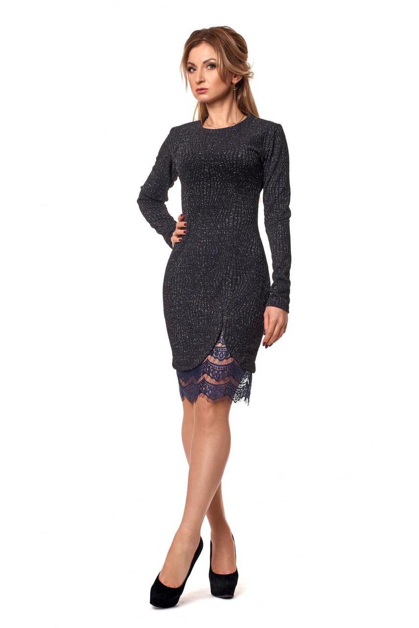 Женское облегающее платье до колен - Оптово - розничный магазин одежды