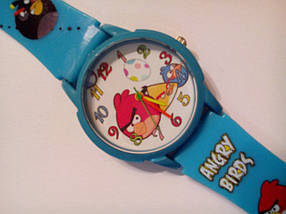 Часы наручные детские Angry birds голубые, фото 2