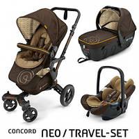 Коляска 3 в 1 Concord Neo Travel Set Walnut Brown, коричневый