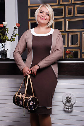 Платье Бейлиз (шоколад+беж), фото 2