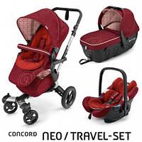 Коляска 3 в 1 Concord Neo Travel Set Tomato Red, красный