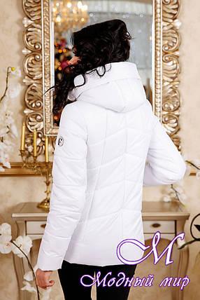 Женская белая осенняя куртка больших размеров (р. 44-56) арт. 1011 Тон 10, фото 2