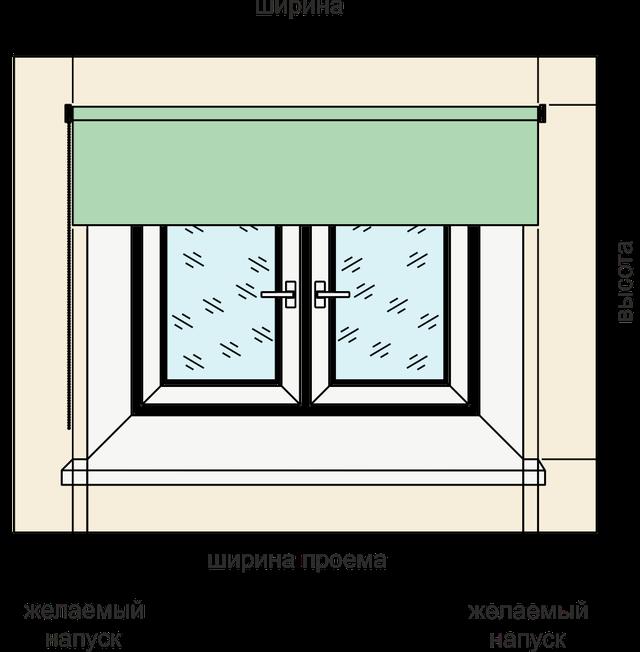 рулонные шторы на креплени на проем