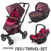 Коляска 3 в 1 Concord Neo Travel Set Rose Pink, розовый