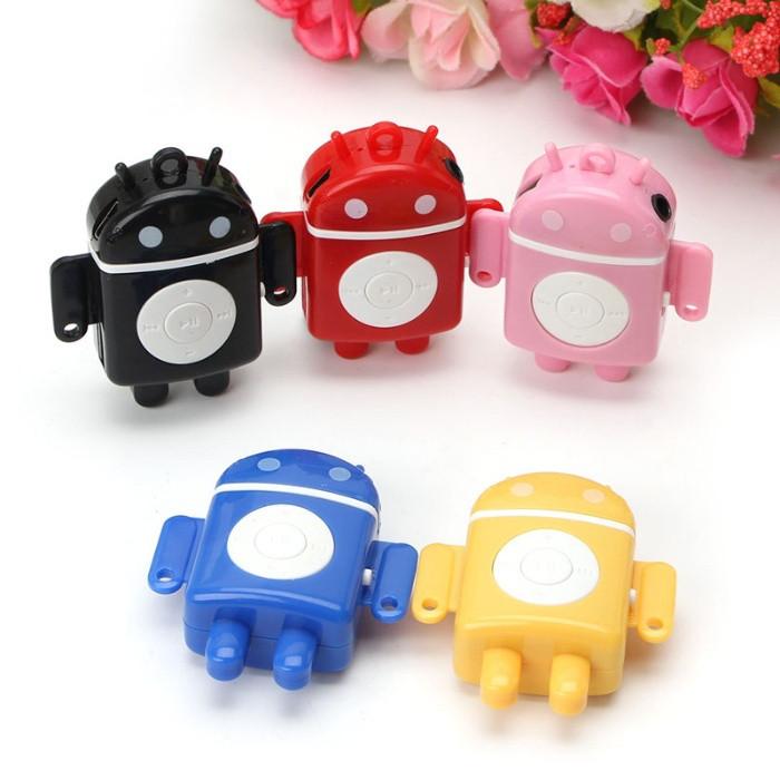 Плеер мини MP3 player+вакуумные наушники, робот цифровой
