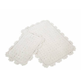 Набор ковриков для ванной Irya - Mina ekru кремовый 60*90+40*60