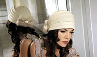 Женская шерстяная шапка с меховым бантом Graciana от Willi Польша