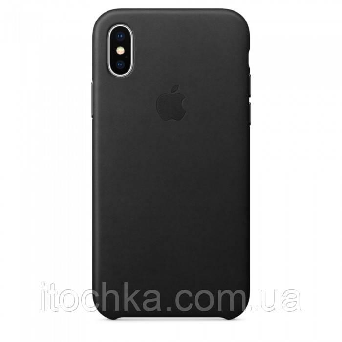 Apple iPhone X Leather Case Black (copy)