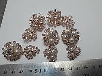 Пуговици с камнями, для верхней одежды в виде брошек, фото 1