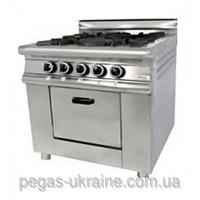 Плита газовая промышленная с газовым контроллером Pimak МО15-4В/400х400