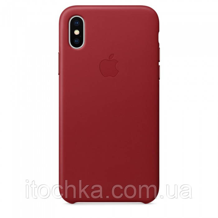 Apple iPhone X Leather Case Red (copy)