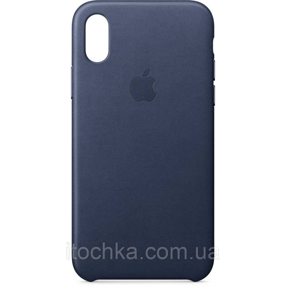 Apple iPhone X Leather Case Midhight Blue (copy)