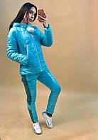 Женский костюм тройка: куртка, свитшот и штаны, в расцветках
