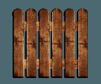 Деревянный забор, штакетник