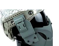 Защитная маска на пол лица (к шлему) черная