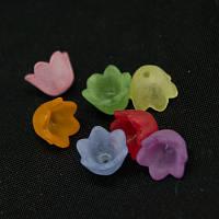 Бусины, цветок, акрил, матовые, микс, 10х6 мм (90шт) УТ00003569