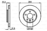 Тормозной диск задний Volkswagen Transporter T5(2003-) Bosch(0986479097)