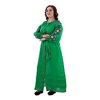 Современные платья в украинском стиле Колорит зеленое
