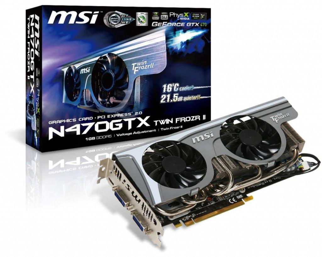 "Видеокарта MSI GTX470 GTX 1280MB GDDR5 (320bit) ""Over-Stock"""