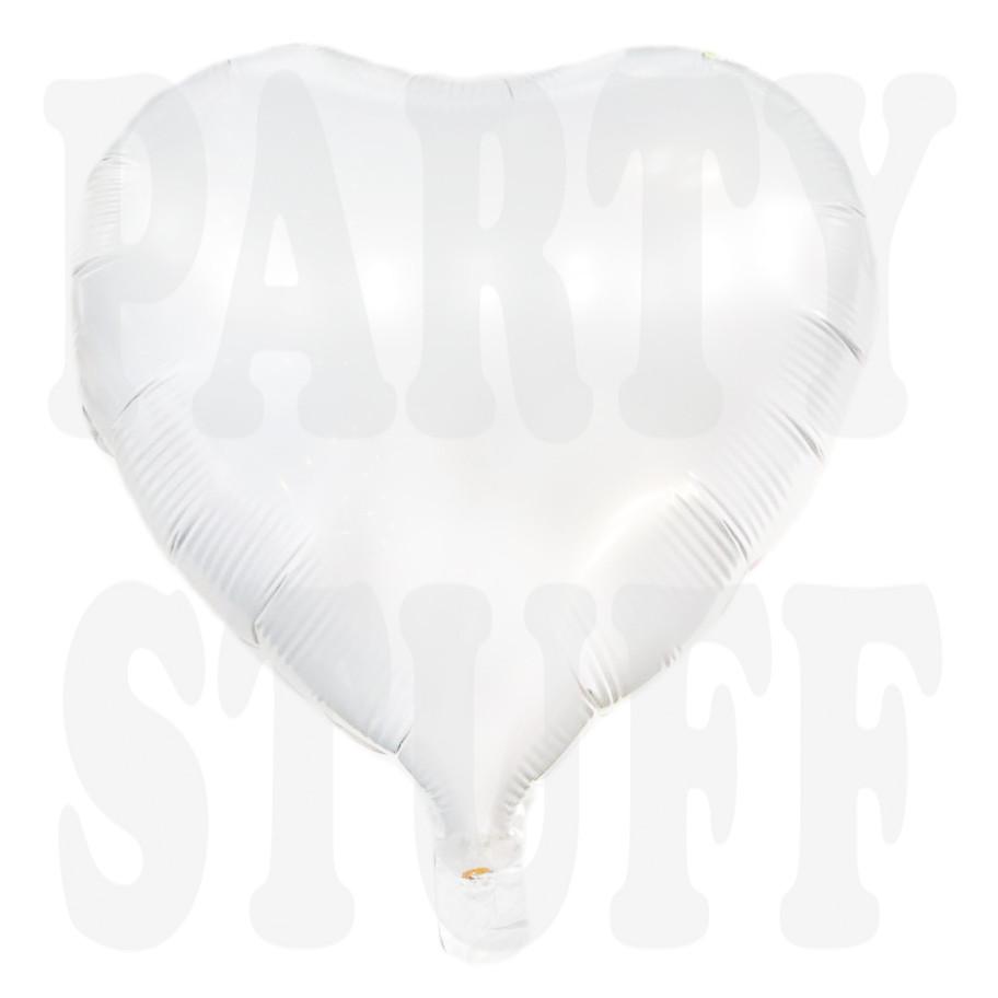 Фольгированный шар Сердце белое, 44*45 см