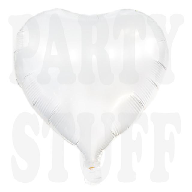 Фольгированный шар сердце белое