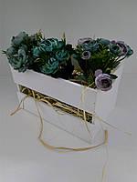 Декоративный ящик, белый, L, фото 1