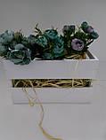 Декоративный ящик деревянный, белый, М, фото 3