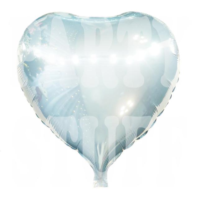 шар фольгированный сердце светло-голубое