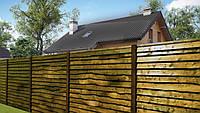 Деревянный забор, елочка
