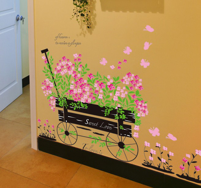 Інтер єрна наліпка на стіну Квіти прованс   Интерьерная наклейка на стену  Цветы прованс AY705 ecbdedc3267e2