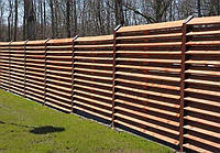 Деревянный забор, жалюзи