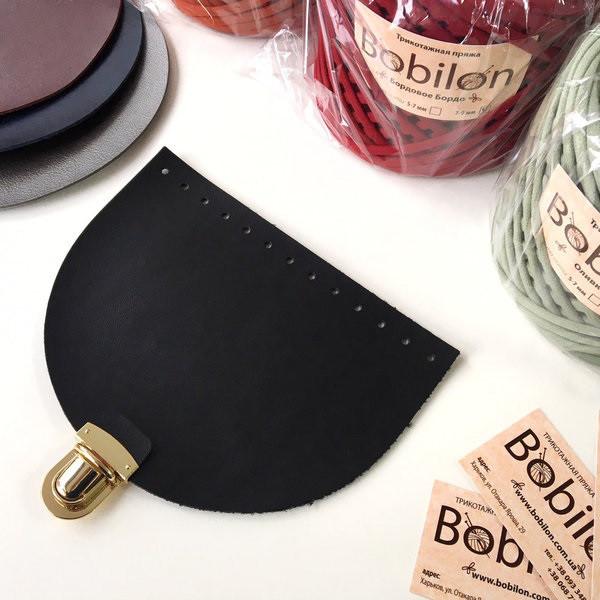 Крышка для сумки с портфельным замком (эко-кожа), черная