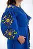 Льняное платье вышиванка Колорит синие, фото 3
