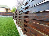 Деревянный забор, плетенка