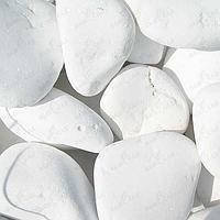 Мраморная галька белая 80-150 греция