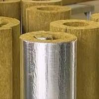 Цилиндры минераловатные (базальтовые) без покрытия длин.1200мм внутр.D27мм толщина изоляции 80мм