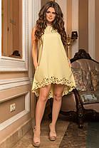 К579 Платье ассиметрия с перфорацией, фото 2
