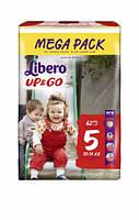 Трусики Libero Up&Go MEGA PACK 5 (10-14 кг), 62 шт.