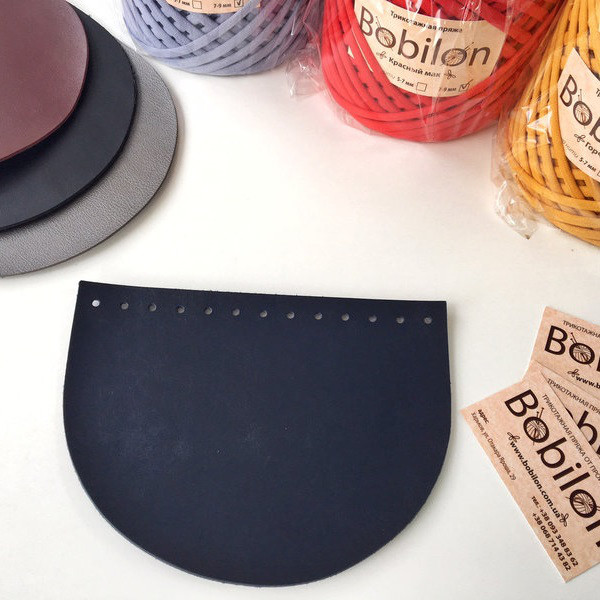 Крышка для сумки (эко-кожа). Цвет Темно-синий
